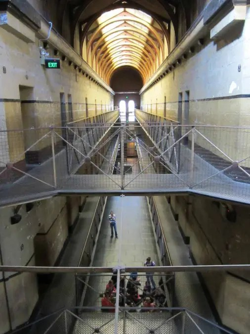 Inside the Old Melbourne Gaol.