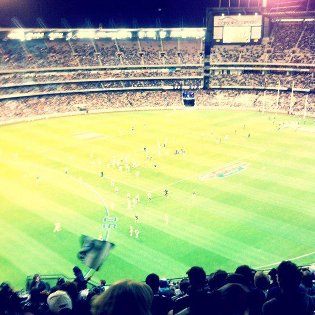 AFL footy game.