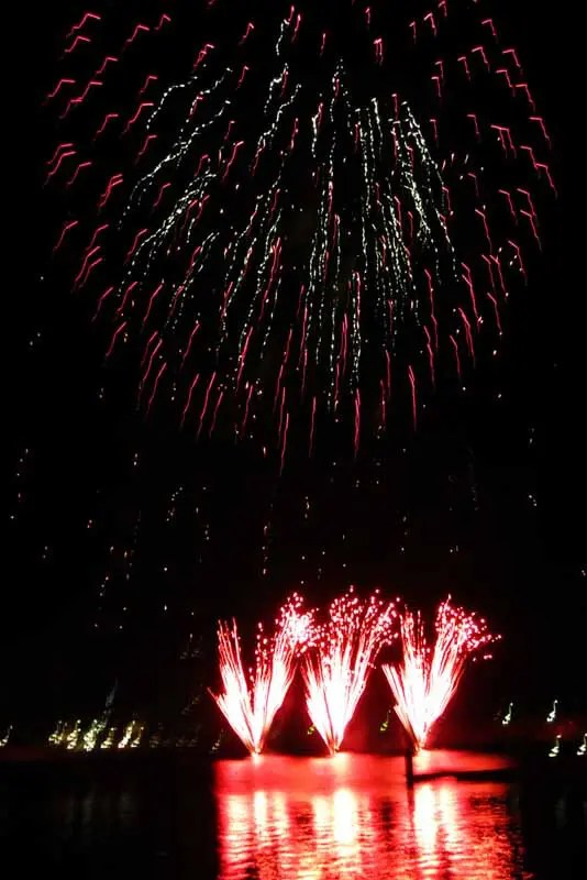 Docklands fireworks.