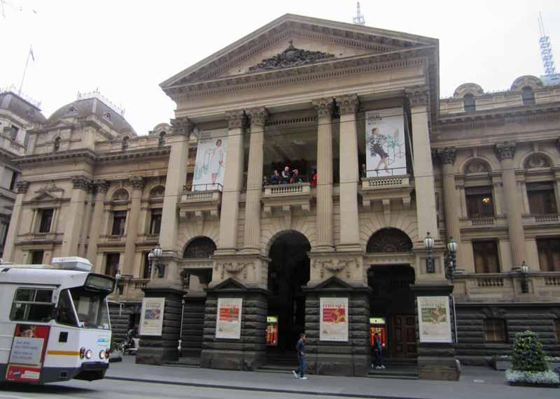 Melbourne Town Hall exterior.