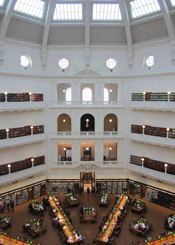 The LaTrobe Reading Room in the State Library of Victoria.