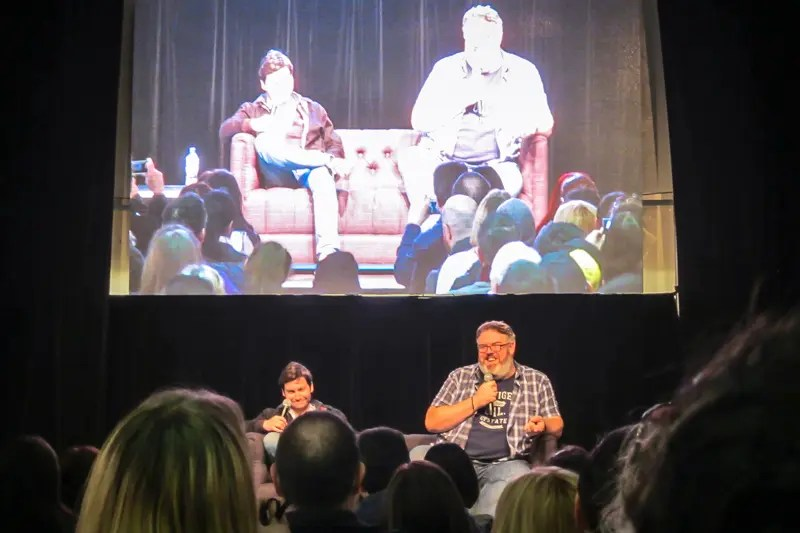 Actors Daniel Portman and Kristian Nairn.