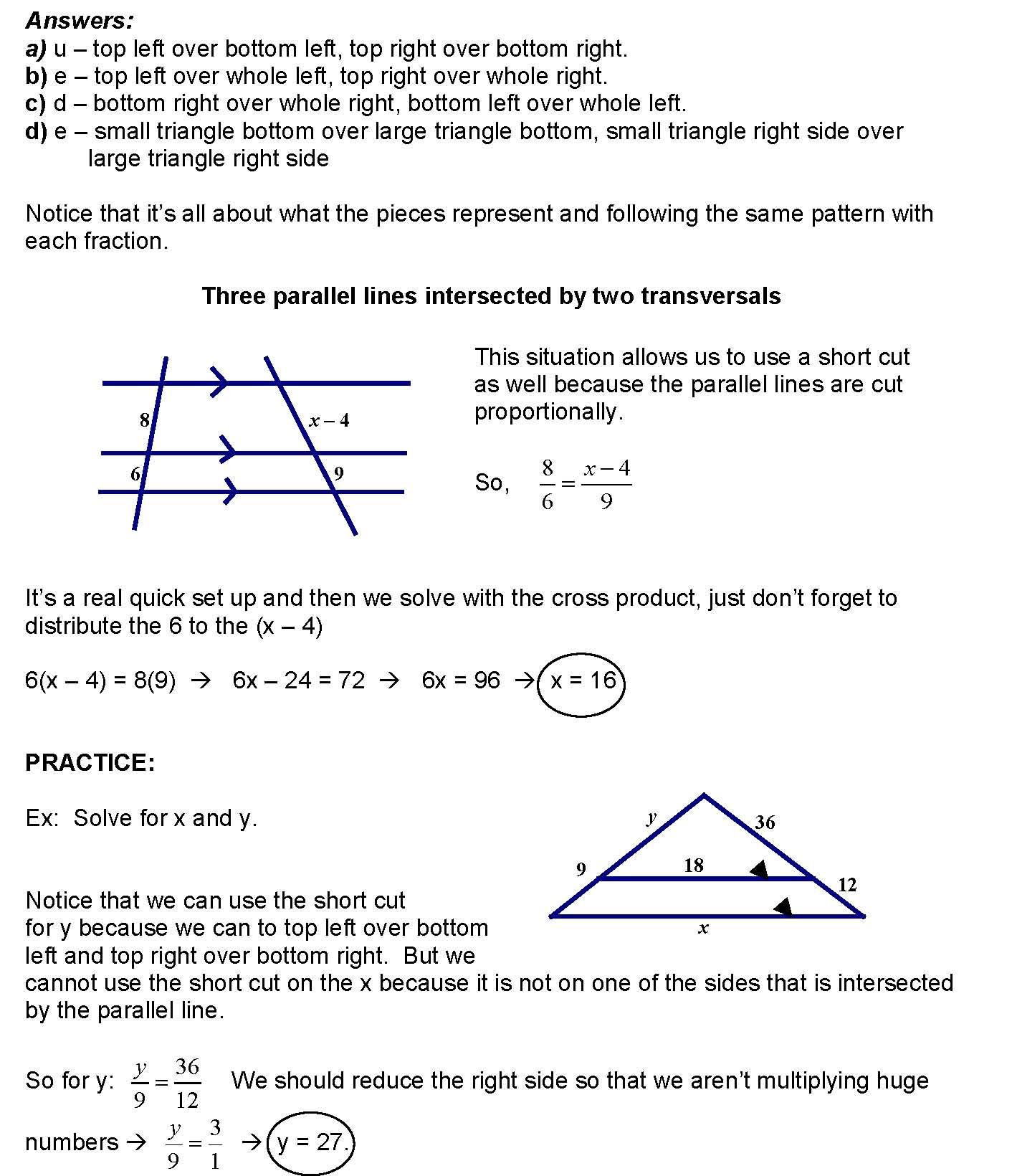 Cosgeometry Lesson 6 10 Using Proportionality Theorems