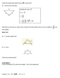 Special Right Triangles 45 45 90 Worksheet Free Worksheets ...