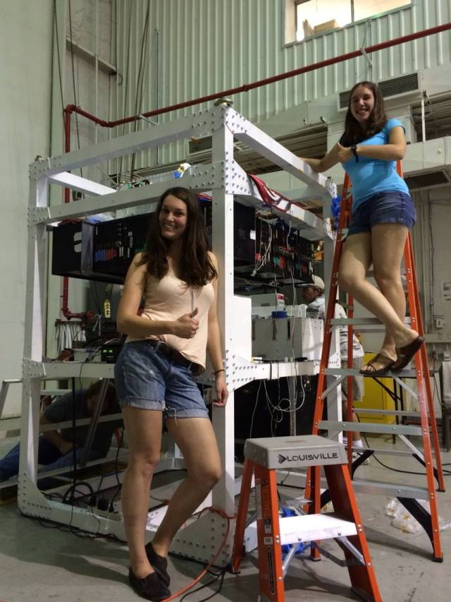 I had Clio's help with the harnessing. With 888 channels for our detector, we have a lot of delicate cables and it's a very time consuming process.