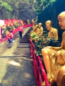Escadaria de acesso ao templo
