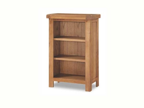 Country Stone Oak Low Wide Bookshelf Cosi Interiors Ltd