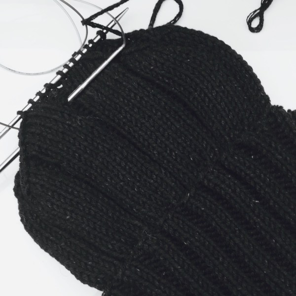 Cashmere mens chunky hat