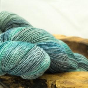 Lace Weight 50 / 50 Silk and Merino 'Atlantic Surge'