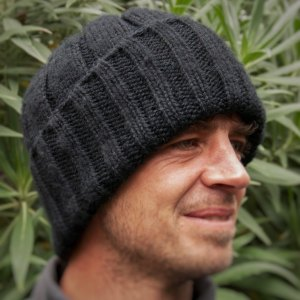 Mens Chunky Hat Pure Merino Wool Watch Cap / Fishermens Hat