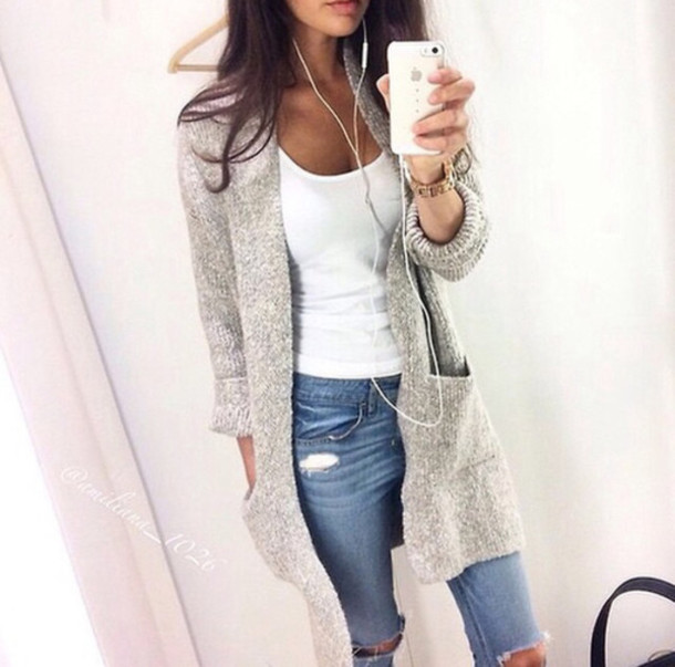 4tei1y-l-610x610-cardigan-jeans-denim-ripped+jeans-grey+cardigan-autumn+outfit-white+singlet-large+cardigan-phone+cover