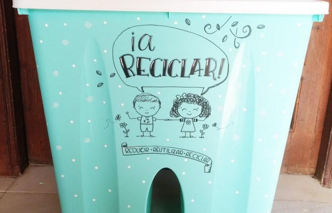 Papelera de reciclaje alterada