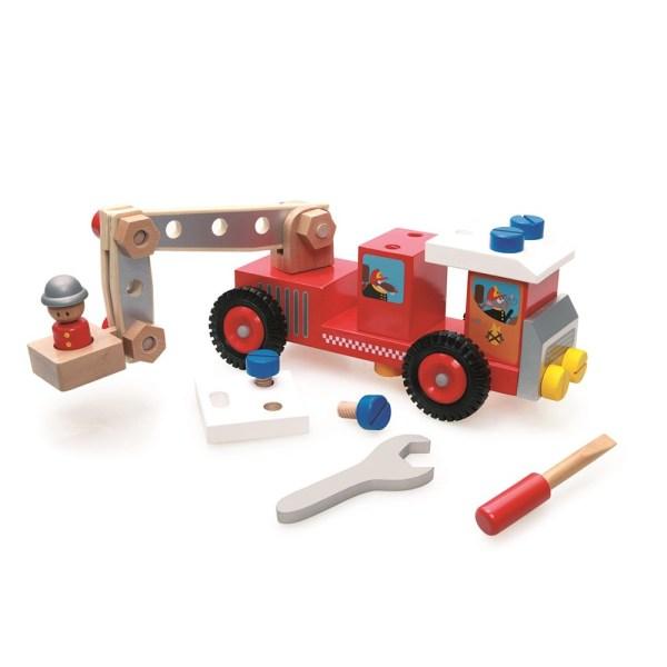 Camión de bomberos de madera - Scratch