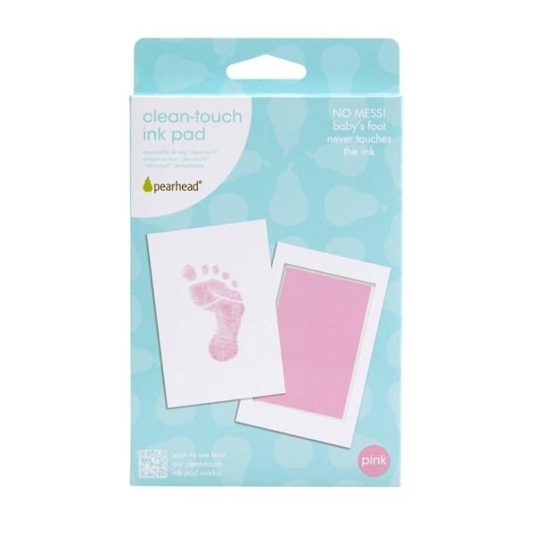 Tampón tinta negro, azul o rosa para huella bebé - sin manchas - Pearhead