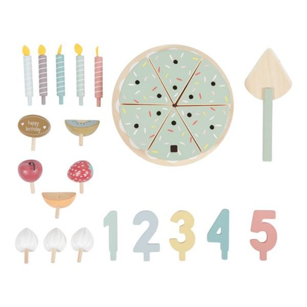 Pastel de cumpleaños XL 26 piezas - Little Dutch