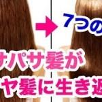 【ツヤ髪】このパサパサ髪を何とかしたい…7つのヘアケア方法