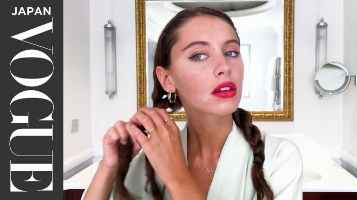 アイリス・ロウの欠点を隠さないスキンケア&赤リップメイク。| Beauty Secrets | VOGUE JAPAN