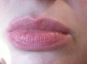 Trish McEvoy Lip Perfector Conditioning Balm - Swatched on lips in natural light