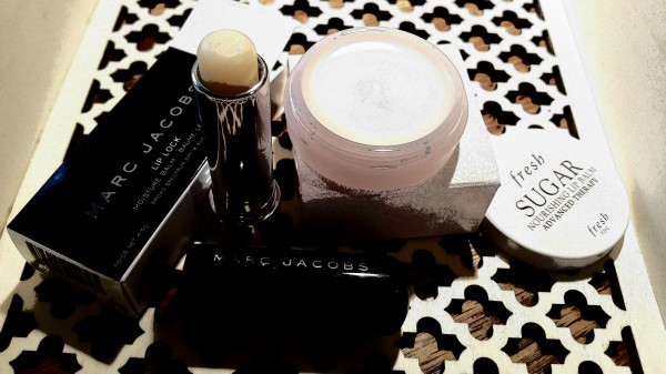 Marc Jacobs Beauty Lip Lock Moisture Balm and Fresh Sugar Nourishing Lip Balm Advanced Therapy
