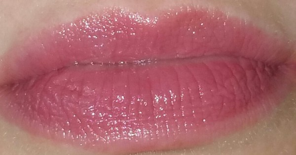 Bobbi Brown Creamy Lip Color - Blue Raspberry- 05, swatched on lips with flash