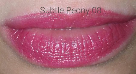 Sephora Collection Rouge Balm SPF 20 in 08 - worn on lips - with flash