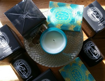 Diptyque Boutique Exclusive Candles: Tomas Maier Old Montauk Highway; Tomas Maier Palm Beach; Beverly Hills; and Tomas Maier West District Road.