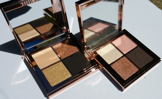 Bobbi Brown Sunkissed Eye Shadow Palettes Gold (left) and Pink (right)