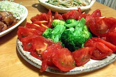 ブロッコリーとトマトのサラダでがん予防