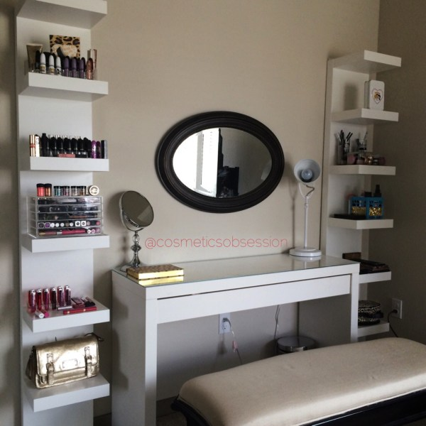 Makeup Storage And Organization Ikea Lack Shelf Unit