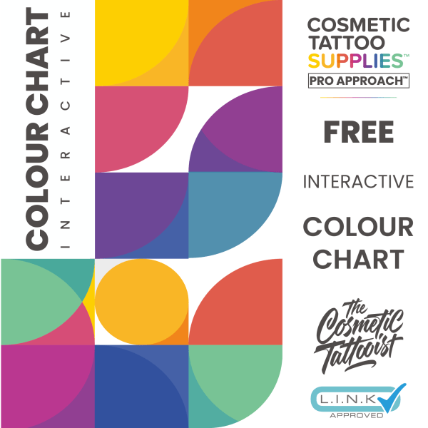 Pro Approach Pigment Science & Online Theory Online Interactive Chart Cosmetic Tattoo Supplies