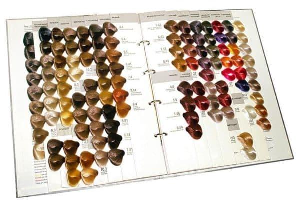 Палитра краски для волос Kapous