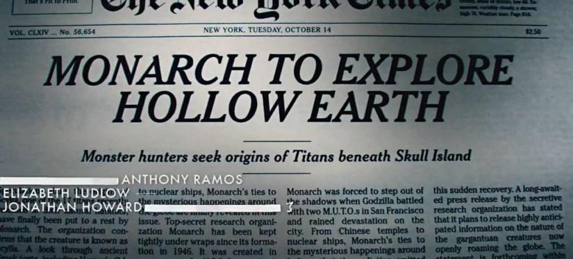 Resultado de imagen de godzilla king of the monster credits newspaper