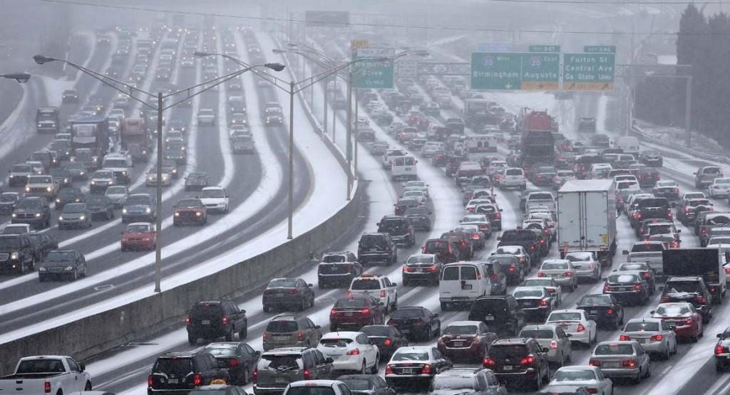 Atlanta, GA during recent snow storm
