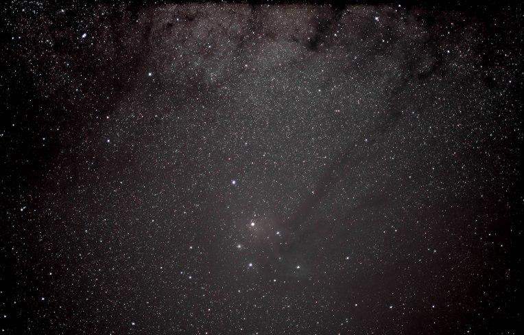 2012-10-07 Antares Region of Scorpius, Rho Ophiucus 26x8 sec f/1.4 50 mm ISO 1600