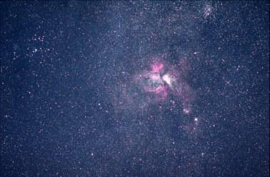2013-08-31: Carina Nebula - 5 min, 135mm, f/2, ISO 3200