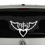 Not Of This World with Heart and Wings Vinyl Decal