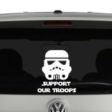 Support Our Troops Stormtrooper Vinyl Decal