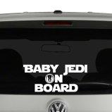 Baby Jedi on Board Vinyl Decal