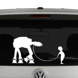 Star Wars Inspired Boy and His Pet AT-AT Vinyl Decal