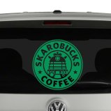 Skarobucks Coffee Doctor Who inspired Daleks Vinyl Decal Sticker