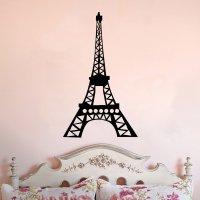Eiffel Tower Whimsical Design Vinyl Wall Decal