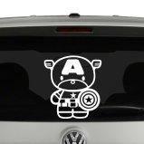 Captain America Chibi Vinyl Decal Sticker