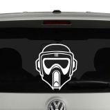 Star Wars Inspired Biker Scout Helmet Vinyl Decal Sticker Car Window