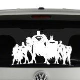 JLA Justice League Inspired Silhouette Vinyl Decal Sticker