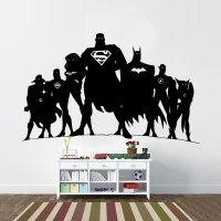 JLA Justice League Inspired Silhouette Vinyl Wall Decal ...
