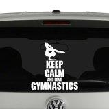 Keep Calm and Love Gymnastics Vinyl Decal Sticker