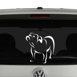 Bulldog Outline Line Art Vinyl Decal Sticker