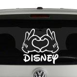 Disney Love Mickey Mouse Heart Hands Vinyl Decal Sticker