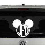Mickey Mouse Disney Inspired Monogram Vinyl Decal Sticker