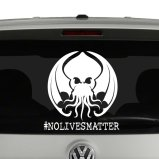 Cthulhu No Lives Matter Hashtag Vinyl Decal Sticker
